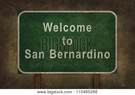 Welcome To San Bernardino, Roadside Sign Illustration