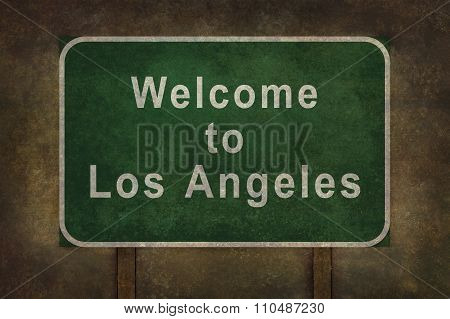 Welcome To Los Angeles, Roadside Sign Illustration