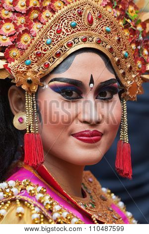 Face Portrait Of Young Balinese Woman