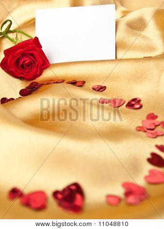 Red Rose And  Greeting Card