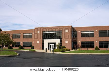 Contemporary Brick Business Building with Drive