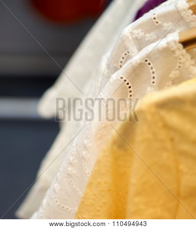 White And Yellow Design Cloth