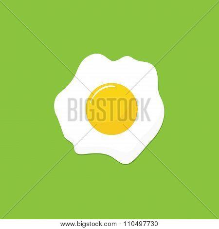 Scrambled egg icon, modern minimal flat design style vector illustration