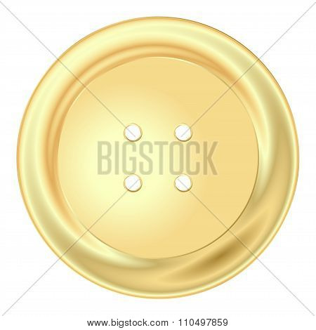 Vector Gold Round Sewing Button