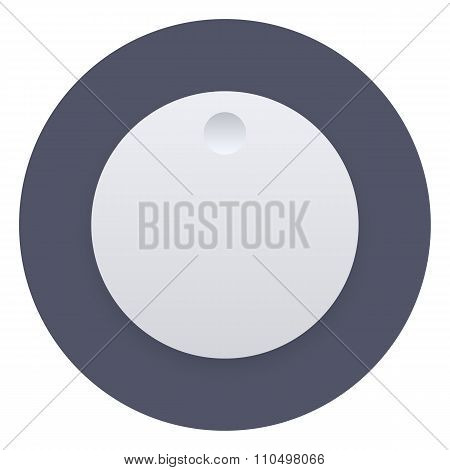 Volume music control knob icon, vector illustration, user interface