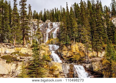 Tangle Falls in Jasper National Park