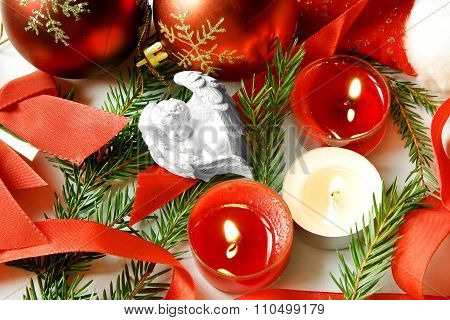 White Angel Baby Sweet Dreams Christmas Night