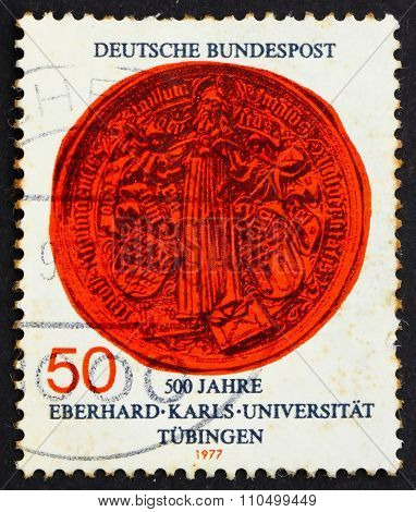 Postage Stamp Germany 1977 Jesus As Teacher, Great Seal Of Unive