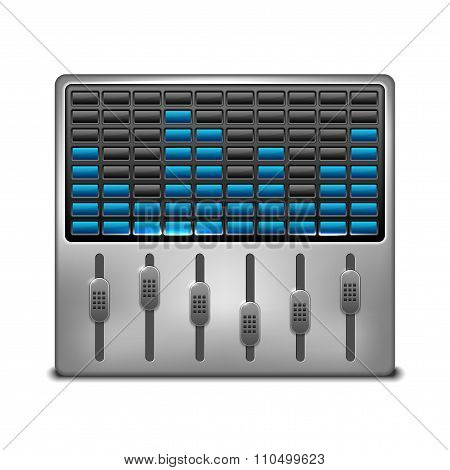 Abstract Music Equalizer On White Background