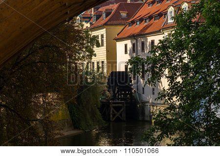 Watermill In Prague, Charles Bridge