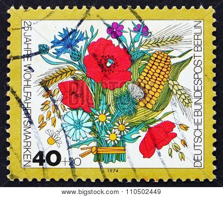 Postage Stamp Germany 1974 Autumn Bouquet Of Flowers