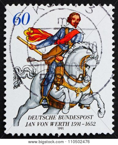 Postage Stamp Germany 1991 Jan Von Werth, General
