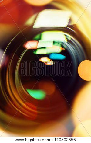 Photographic Camera Lens Close Up