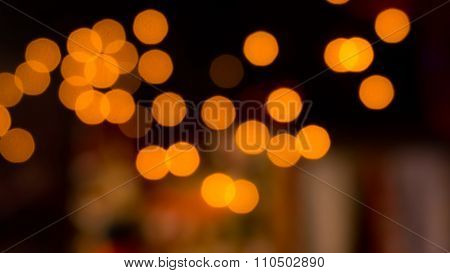 Glittering Gold Christmas Lights