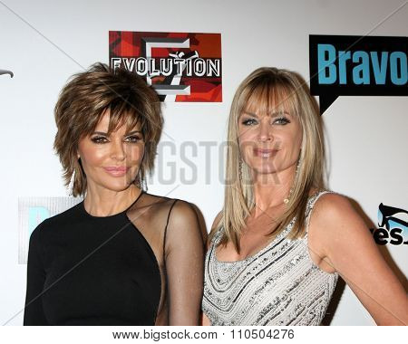 LOS ANGELES - DEC 3:  Lisa Rinna, Eileen Davidson at theThe Real Housewives of Beverly Hills Premiere Red Carpet 2015 at the W Hotel Hollywood on December 3, 2015 in Los Angeles, CA