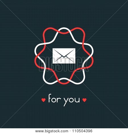 letter for you with red and white sign