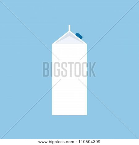 Milk carton icon, modern minimal flat design style, milk box vector illustration
