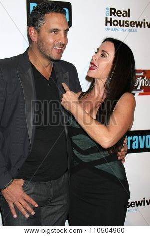 LOS ANGELES - DEC 3:  Mauricio Umansky, Kyle Richards at theThe Real Housewives of Beverly Hills Premiere Red Carpet 2015 at the W Hotel Hollywood on December 3, 2015 in Los Angeles, CA