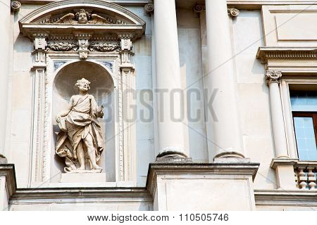 Marble In Old Historical Construction Italy
