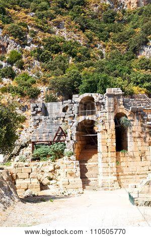 Myra In Turkey  Roman  Indigenous Tomb Stone