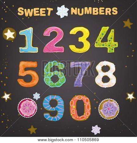 Sweet Handdrawn Numbers