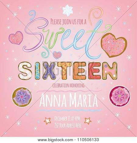Sweet vector Sixteen