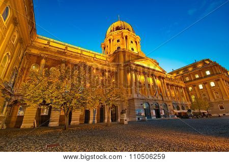 Budapest, Hungary - October 30: The Royal Palace In The Buda Castle Of Budapest Is One Of The Landma