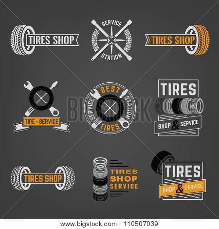 Tires Shop Logo