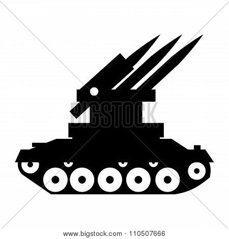 Anti-aircraft warfare simple icon
