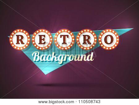 Retro sign background