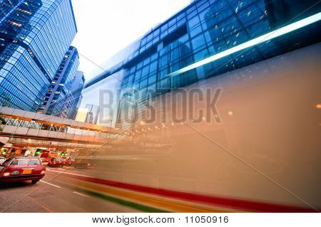 Fast moving bus