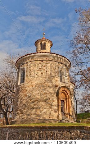 Rotunda Of St Martin (xi C.) Of Vysehrad In Prague. Unesco Site