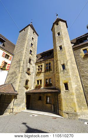 Courtyard Of The Castle In Neuchatel