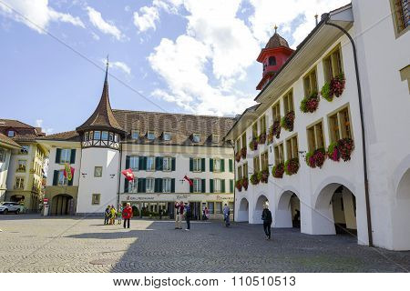 Hotel Krone At The Town Hall Square In Thun
