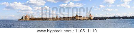 Oreshek fortress on lake Ladoga.