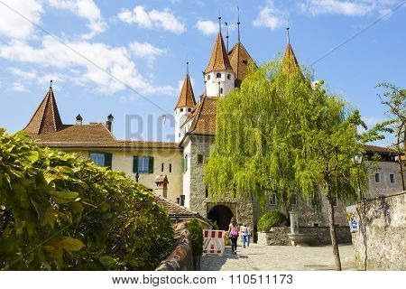 Thun, The Road Leads To The Castle Gate