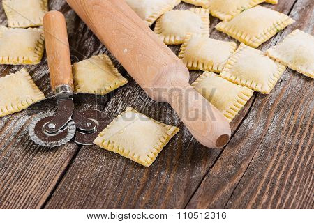 Raw Ravioli With Spinach And Ricotta Cheese