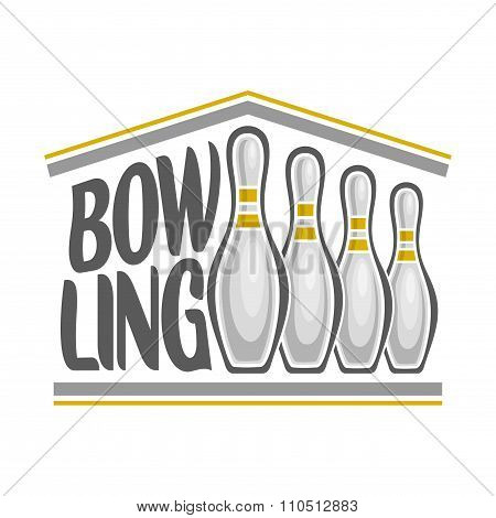 Vector Image on the subject of bowling
