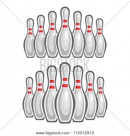 A set of images on the theme of bowling