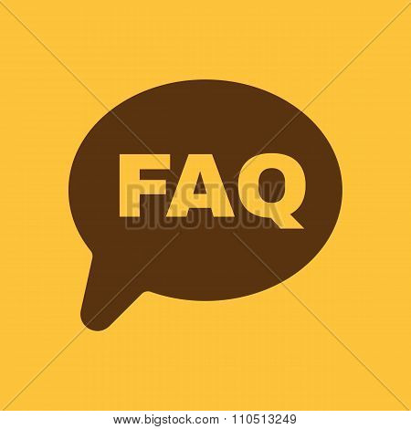 The faq speech bubble icon. Help symbol. Flat
