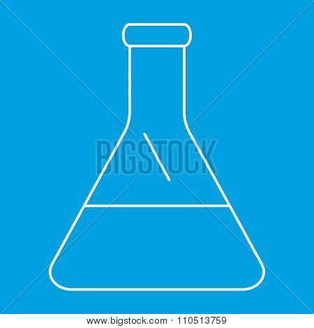 Conical flask thin line icon