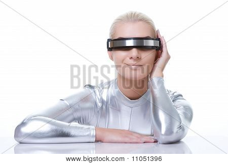 Beautiful cyber woman