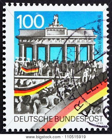 Postage Stamp Germany 1990 Brandenburg Gate, Opening Of Berlin W