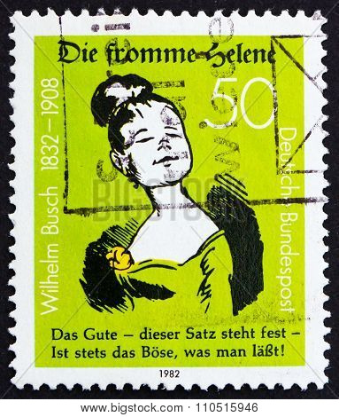 Postage Stamp Germany 1982 Die Fromme Helene, By Wilhelm Busch