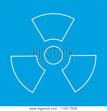 Radiation thin line icon