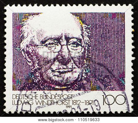 Postage Stamp Germany 1991 Ludwig Windthorst