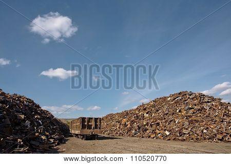 Pile of rusty scrap metal.