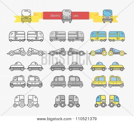 Electric Car Bus Concept Design Linear