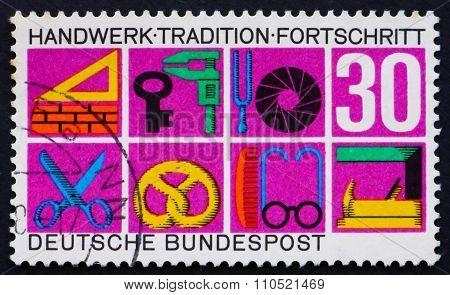 Postage Stamp Germany 1968 Symbols Of Various Crafts
