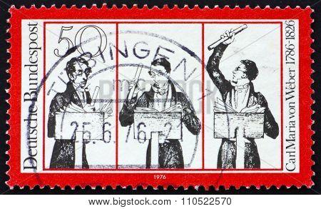 Postage Stamp Germany 1976 Carl Maria Von Weber